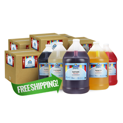 Free Shipping On 28 Gallons of Snow ConeConcentrate