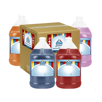 Bulk Case - 4 Gallons of Sugar Free Snow Cone Syrup