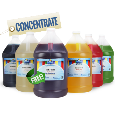 Get 1 Free Gallon of Concentrate With The Purchase of 5 Gallons