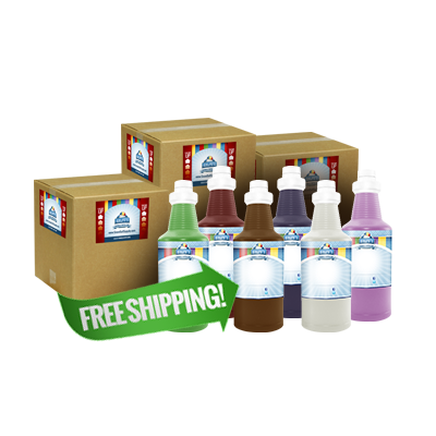 Free Shipping On 24 Quarts of Snow Cone Syrup