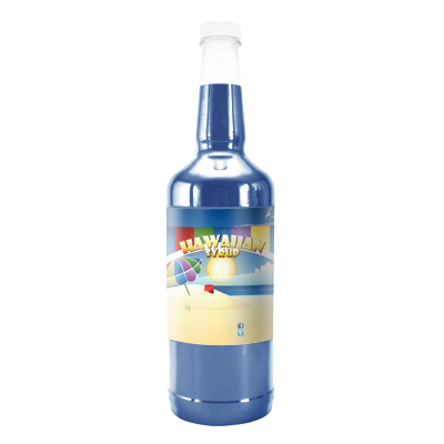 Blue Cotton Candy  Hawaiian Syrup - Quart