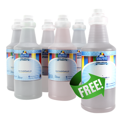 5 Quarts of Dye-Free Snow Cone Syrup and Get 1 Free