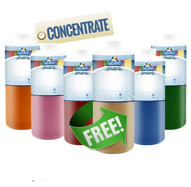 Buy 5 Quarts of Flavor Concentrate and Get 1 Free